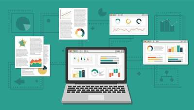 Data Visualization dashboard examples - various graphs